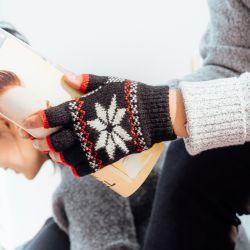 羊毛手套 半指手套