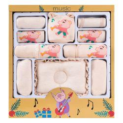 婴儿礼盒 加厚音乐猪