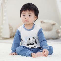 婴儿哈衣  熊猫蓝套装