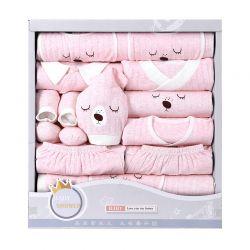 四季眉豆熊粉色